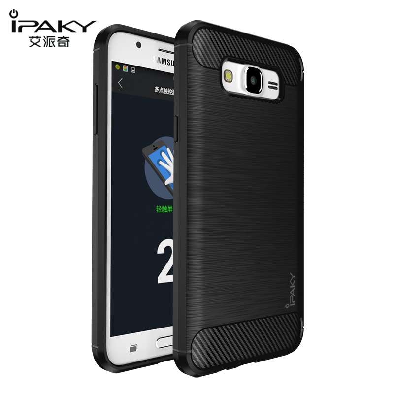 hot sale online a2e59 08bc8 US $4.24 15% OFF|for Samsung J7 2016 Case Original IPAKY Silicone Carbon  Fiber Hybrid Protective Cover for Samsung Galaxy J5 2016 Case cover-in  Fitted ...