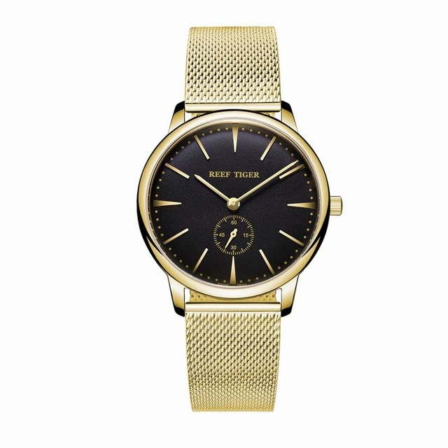 лучшая цена Reef Tiger Classic Serier RGA820 Women Ladies Fashion Ultra Thin Quartz Couple Watches
