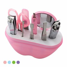8 in 1 Perfect Nail Art Manicure Tools Set Nails Clipper Scissors Tweezer Knife Ear Pick Utility Manicure Sets Y1-5