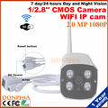 1080 P WIFI Cámara IP full HD 1/2. 8 ''Sensor CMOS ONVIF P2P 2.0MP 1080 P sistema de vista remota a través de Wireless Impermeable Al Aire Libre teléfono
