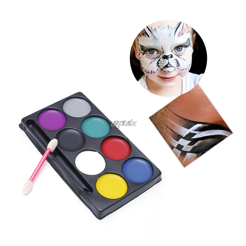 8 Colors Body Face Paint Kit Art Makeup Painting Pigment Fancy Dress Up Party G12 Drop Ship