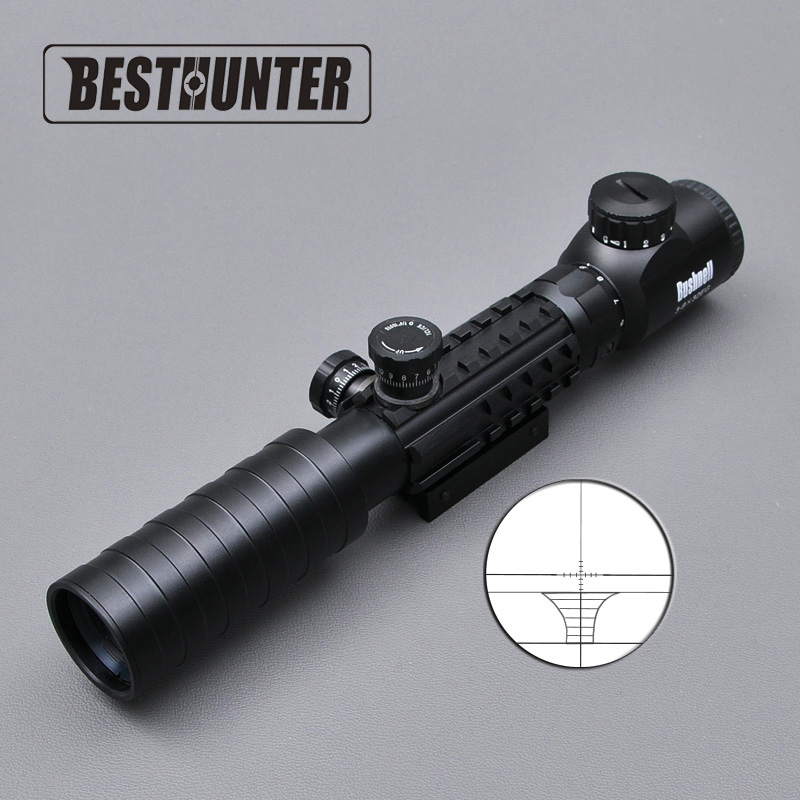 BUSHNELL Airsoft Hunting Scope Red /Green Dot Illuminated Sight 3-9X32EG Tactical Optics Scope Project Picatinny Rail Mount 20mm бинокль bushnell киев