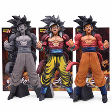 34cm Anime Dragon Ball GT Big Standing Goku Figure Toy Super Saiyan 4 Son Goku Figurine Action Figure Toys Doll DragonBall Model цена