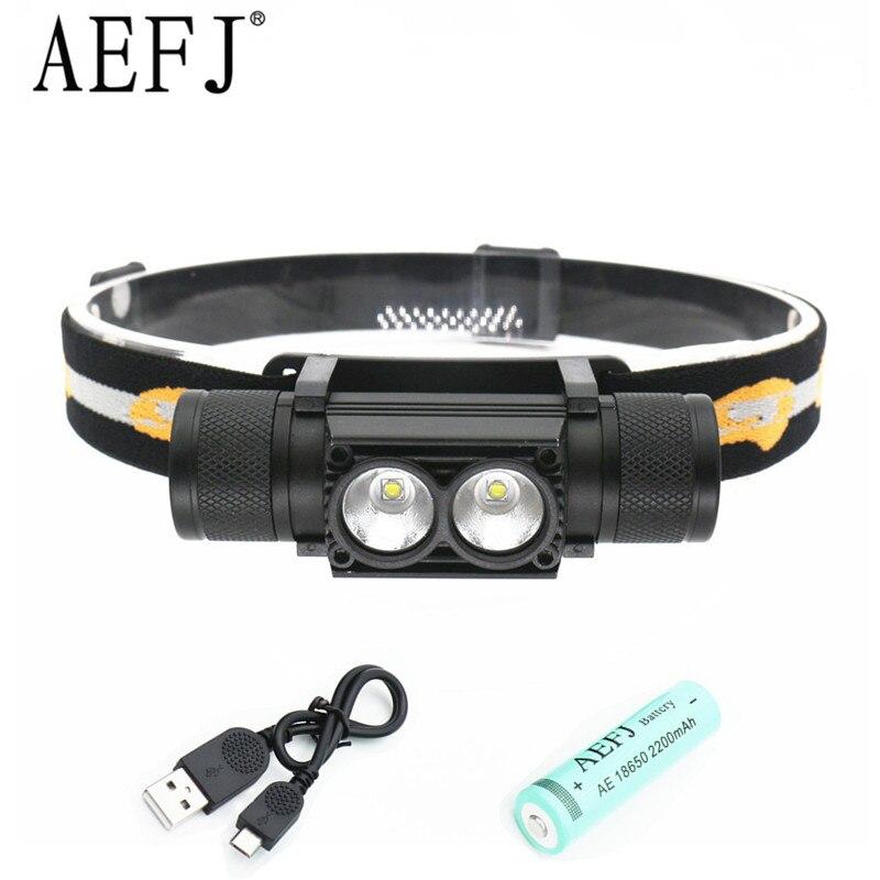 6000lm XP-G led headlamp USB headlight waterproof IPX6 Head flashlight torch led head light 18650 rechargeable battery camping