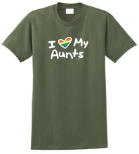 Printed T Shirts Online Short Sleeve Zomer Crew Neck I Love My Aunts Pro Lgbt Gay Lesbian Aunt T Shirts For Men aunts