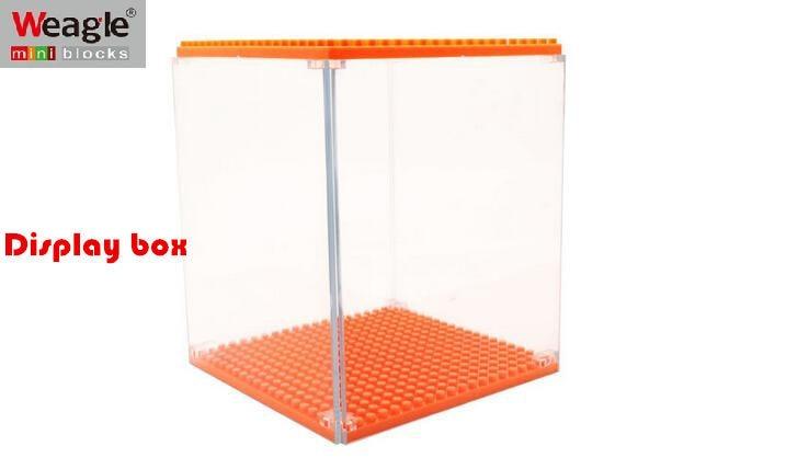 Borong Weagle Diamond Blok Kotak Paparan untuk Spongebob Hellokitty - Mainan pembinaan - Foto 1