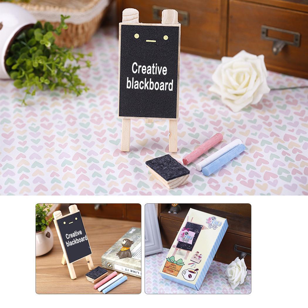 DIY Cute Cartoon Mini Wooden Blackboard Casual As Picture Message 110g Board Desk Decoration