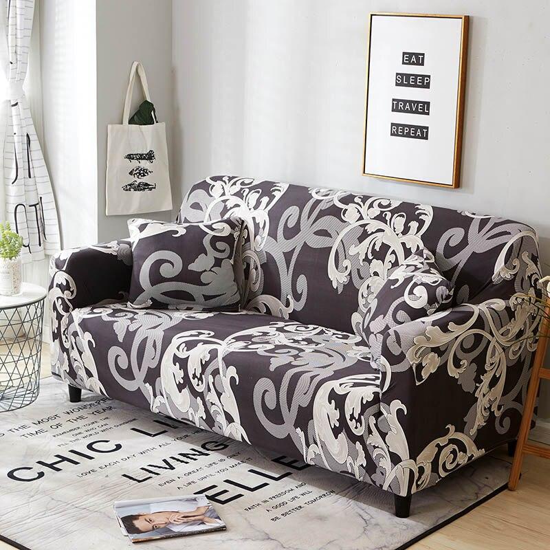 Elástico Spandex cubierta de sofá apretado de todo incluido sofá fundas para habitación seccional sofá cubierta de asiento de amor Patio muebles