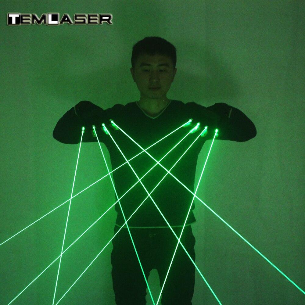 Высокое качество DJ Club 4 шт. 532nm 80 МВт зеленый лазерный Прихватки для мангала светодио дный со светодиодной подсветкой костюмы Show