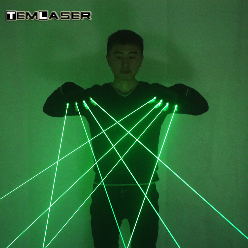 Di alta Qualità DJ Club 4 pz 532nm 80 mw Guanti Laser Verde Per LED luminosi Costumi Mostrano