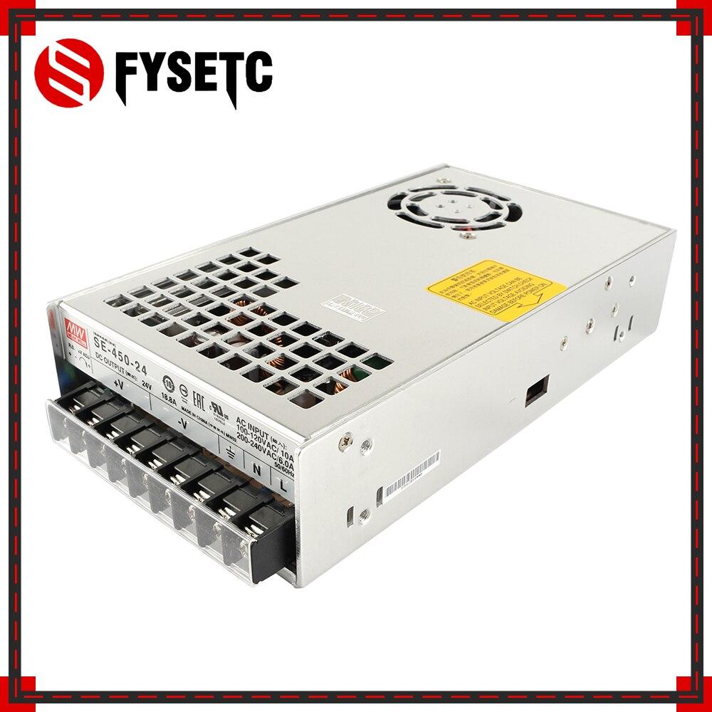 Top qualité BLV MGN Cube 3D imprimante alimentation Geniune Meanwell PSU SE-450-24 24 V 18.8A 450 W pour BLV MGN Cube 3D imprimante pièces