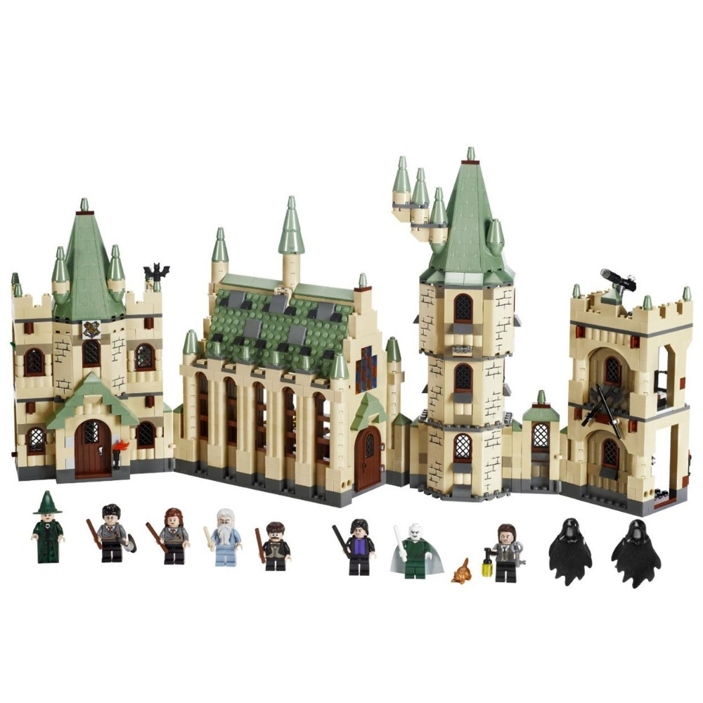 LEPIN Hogwarts Castle Harry Hermione Grange Building Blocks Kit Bricks Classic Movie Model Kids Toys Potter Compatible Legoe