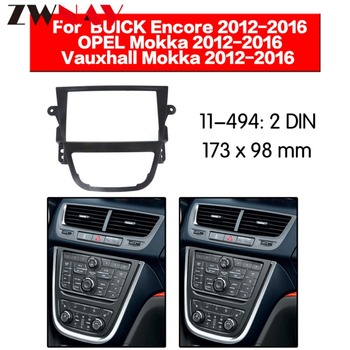 Car DVD Player frame For 2012-2016 OPEL MOKKA 2DIN Auto AC Black LHD RHD Auto Radio Multimedia NAVI fascia