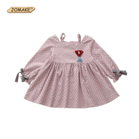 2017 Baby Toddler Girl Clothing Princess Dress Polka Dot Long Sleeve Kids Dresses For Girls Vestidos