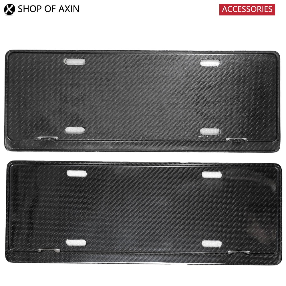 General License Plate Frame (2pcs, Carbon Fiber) For MINI Cooper R50 R52 R53 R55 R56 R57 R60 R61 F54 F55 F56 F60 carbon fiber automotive license plate frame sgx regulatory license car license plate frame for mini cooper