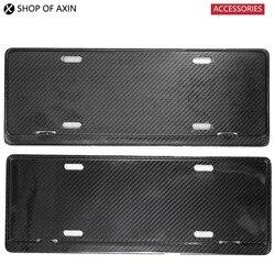 Ogólne ramka do tablicy rejestracyjnej (2 sztuki  z włókna węglowego) dla MINI Cooper R50 R52 R53 R55 R56 R57 R60 R61 F54 F55 F56 F60