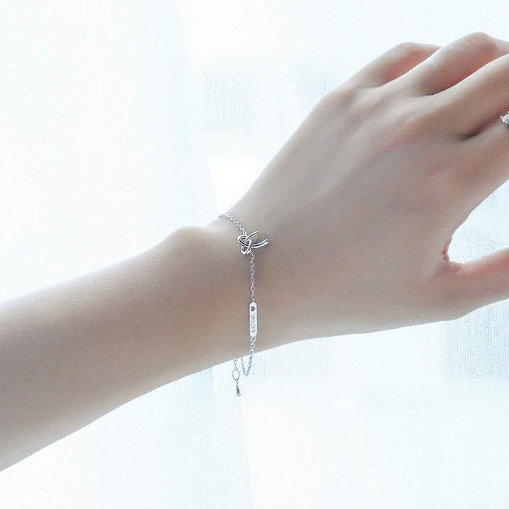 Erkek Bileklik Pulseira Masculina Bileklik 925 Sterling Fashion Charm Bracelets Adjustable Hand Chain Bow Tie Bangle For Lover