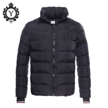 COUTUDI Factory Wholesale Winter Jacket Men's Short Warm Clothing Stand Collar Male Parka Coats Solid Ukraine Style Man Jackets