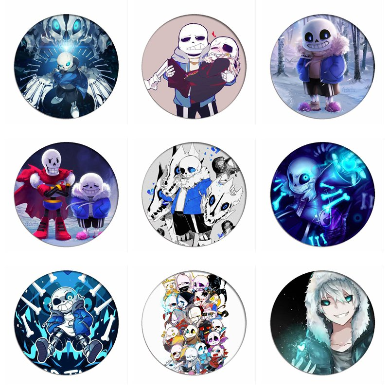 Games Undertale Sans Cosplay Badges Papyrus Brooch Clothing Icon Skull Brother Collection Breastpin For Backpacks Clothes