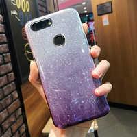 Neue Bling Glitter Gradienten Fall Für Huawei Y5 Y6 Prime Y7 Pro Y9 2018 2019 Weiche Silikon Abdeckung Für Huawei P Smart Plus Smart-Z
