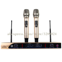 Wireless Microphone Home Singing One for Two Professional Stage KTV Special Outdoor UHF Section Karaoke Microphone