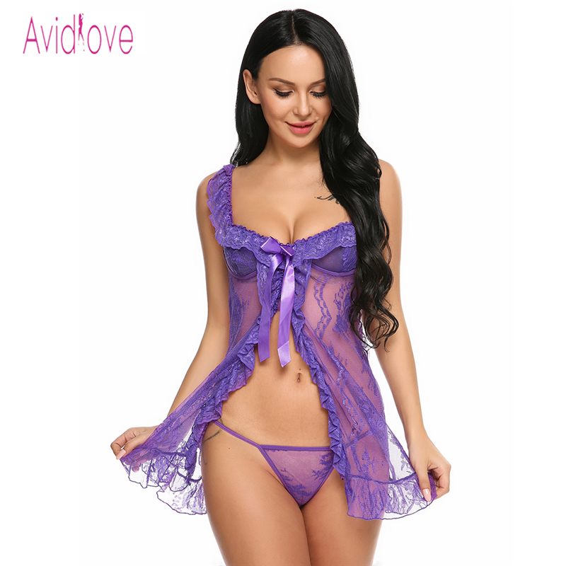 Candy Avidlove Women Sexy Lingerie Underwear Babydoll Erotic Images 1