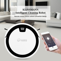 KLiNSMANN Intelligent Cleaning Robot Sweeper with Water Tank and Dust Box 1000Pa Suction Noiseless Mobile App Remote Control
