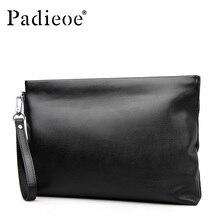 Padieoe Top Quality Genuine Cow Leather Male Clutch Bag Casu