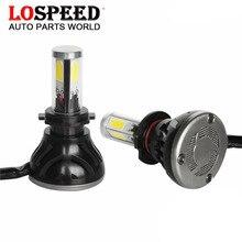 LoSpeed LED h7 H7 Faros de Los Coches 80 W 8000LM LED Luces Exteriores 6000 K COB Bombilla LED H1 H3 H11 H27 HB3 9005 9006 H7 LLEVÓ la Luz Del Coche