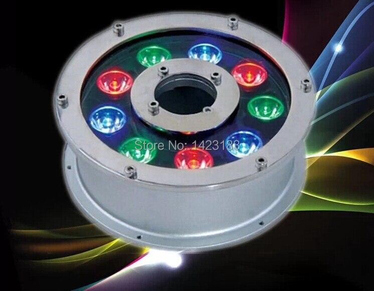 Free Shipping 2 pcs per lot AC 12v -24V 9W LED underwater light lamp fountain lamp led swimming pool light