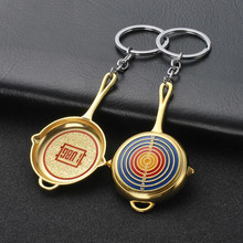 CDCOTN Creative Alloy Car keychain Bag Pendant key chain Birthday Gift Accessories shape Metal Key Rings