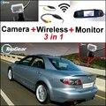 3 in1 Câmera de Visão Traseira Sem Fio + Receptor + Monitor Espelho Especial DIY Sistema De Estacionamento Para Mazda 6 Mazda6 2002 ~ 2008