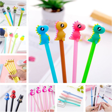 купить 0.5mm Kawaii Creative Dinosaur Gel Pen cat Signature Pen Escolar Papelaria For Office School Writing Supplies Stationery Gift онлайн