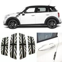 4pcs Grey UK Flag Auto Car Door Anti Scratch Guard Protector Bumper Molding Trim