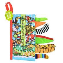 Baby Early Education Toy Book Modern Soft Quiet Children Toddler Toy Cloth  Infant Animal Jungle Tail недорого