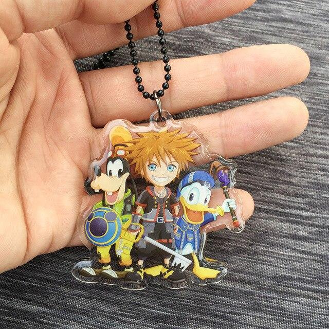 Кулон и брелок героев игры Kingdom Hearts
