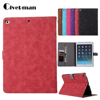 Smart Stand Holder Folio Tablet Case For IPad Air 2 PU Leather Cover For IPad Air