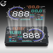 Car HUD OBD 2 Head Up Display 5.5″ Styling Digital Car Kit Speedometer Overspeed Alert System KM/H For chevrolet cruze Ford VW
