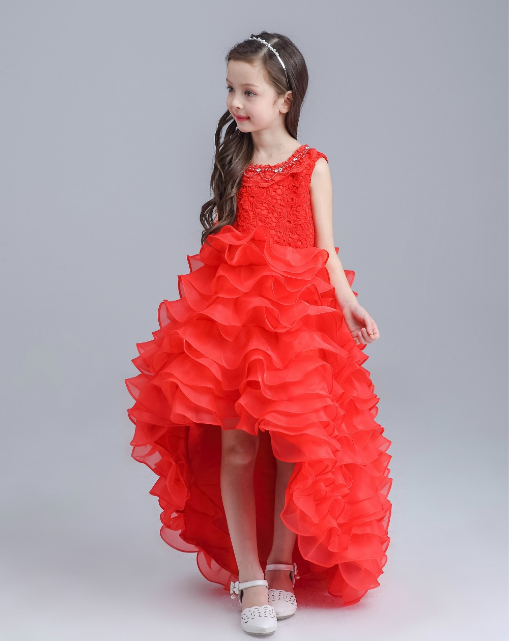 Free Shipping Retail Girl Dresses Children Dress Party Princess Baby Girl Wedding Dress Birthday Christmas 2 Colors 1290 retail girls dress princess wedding dress girl party dress children s clothes 8 colors girl dress free shipping p56