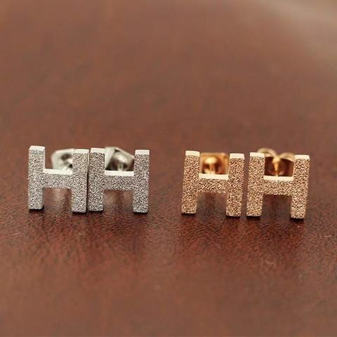 Купить модные ювелирные аксессуары маленькие h абразивные серьги модные