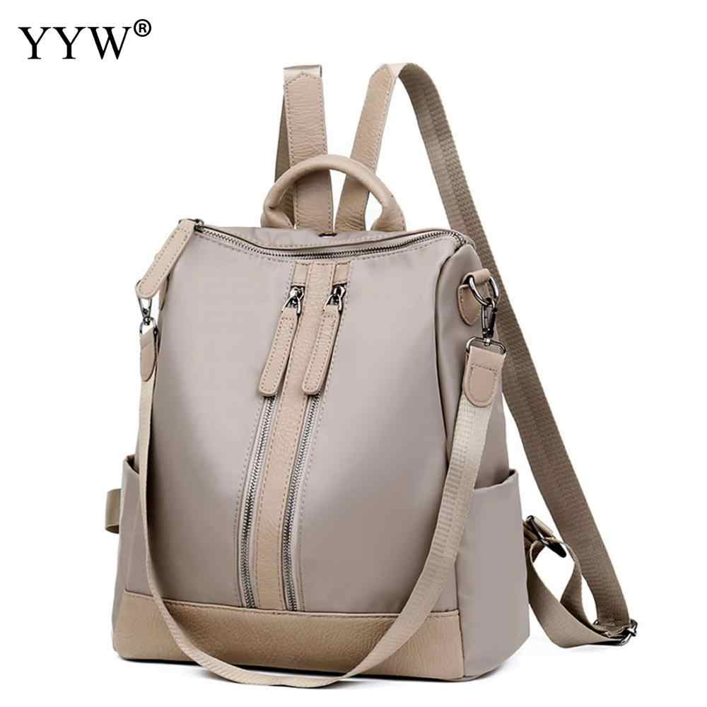 Solid PU Leather Backpack Female Laptop Backpacks for Women and Adolescent  Girls 2018 New Mini Travel afbb8a667800d