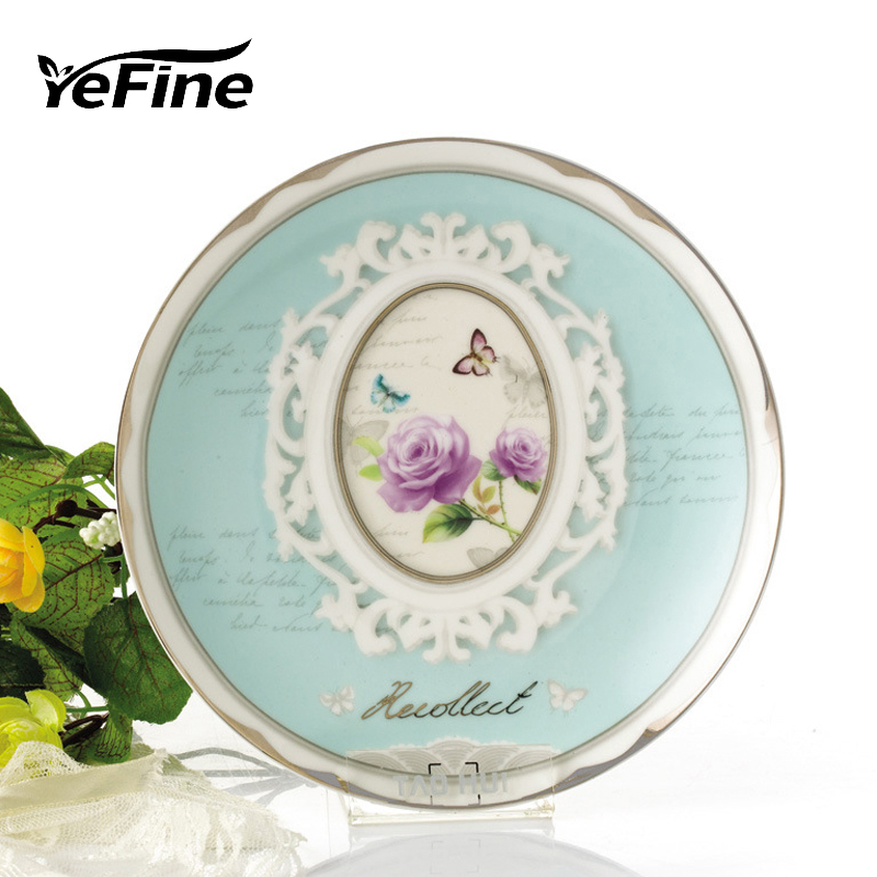 YeFine Platinum Series Luxury Rose Gold-Plated Candy Dishes Creative Gift Bone China Ceramic Dessert Plate Food Container