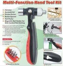 多機能ハンドツールキット機能安全ハンマーラチェットドライバーヘッドスリーブ組み合わせツール爪オープナー