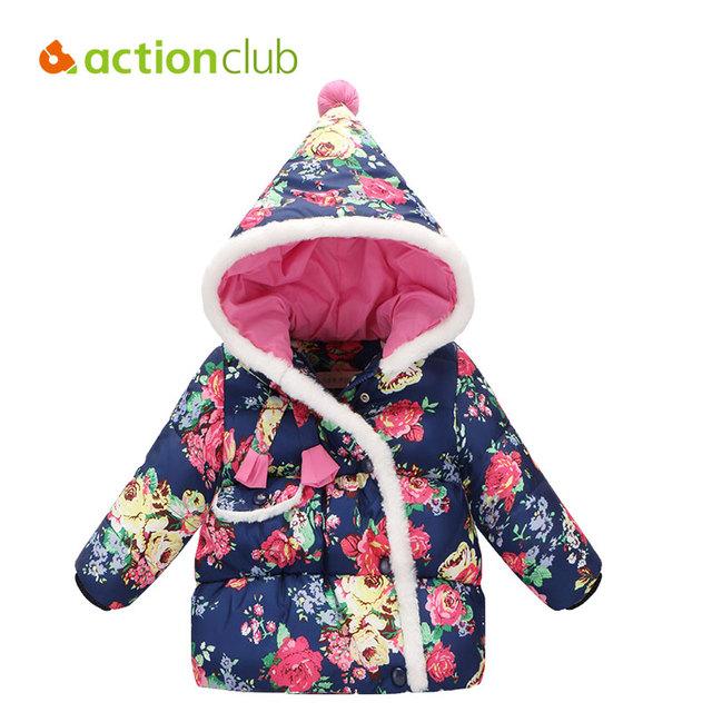 Actionclub Crianças Jaqueta de Inverno Para Baixo Casaco de Impressão Para Crianças Meninas Engrossar Quente Para Baixo Roupas Outerwear Para Baixo Roupas de Inverno