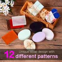 SILIKOLOVE 2 Pack Silikon Seife Form für Seife, Die DIY Handgemachten Blumen Seife Formen 12 Muster Großen Selbst-, Der geschenke