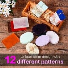 SILIKOLOVE Molde de silicona para jabón hecho a mano, 2 unidades, jabón con forma de flor, 12 patrones