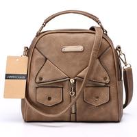 Annmouler Brand Women Messenger Bag Female Double Zipper Handbag Pu Leather Fashion Ladies Shoulder Bag Women