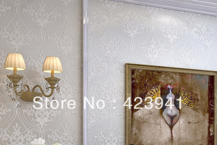 ФОТО 10M*53CM home decor European non-woven fabric wallpaper background wall paper wall covering high-end luxury bedroom TV wall