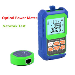 2 IN 1 High Accuracy Optical Power Meter with RJ45 Fiber Tester Self-Calibration with 6 Wavelengths