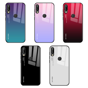 Gradient Tempered Glass Phone Case For Huawei P30 P20 P10 Mate 20 Pro Lite light Back Cover Protective Case Shell For mate 20x(China)